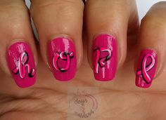 365 days of nail art - Breast Cancer Awareness Month (BCAM)