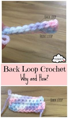 Back Loop Crochet How to do a back loop crochet and why do we choose to do that rather than the usual way