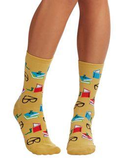 Curl Up With a Good Bookworm Socks | Mod Retro Vintage Socks | ModCloth.com