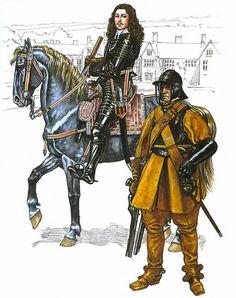 Colonel Alexander Popham and trooper Popham's horse.