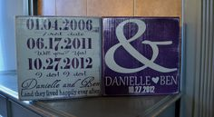 Couple Personalized Engagement Gift, Custom Wedding Gift, anniversary gift, Engagement Present, Bridal Shower , Happily ever after, & and. $40.00, via Etsy.