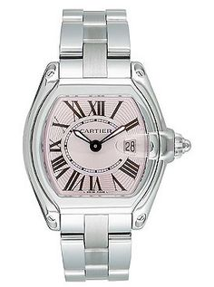 fa3b59a0f6d Cartier Roadster with pink face Cartier Roadster