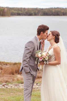 Do a first look and actually touch eachother. Southern Hospitality Meets New England Charm — Lauryn and Joe's Bar Harbor, Maine Wedding