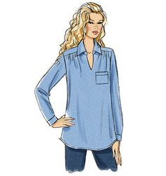 B5997, Misses/Women's Top DIY tunic sewing pattern