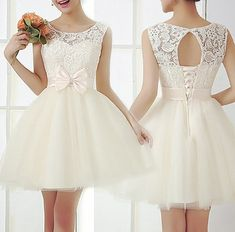 Lace Prom Dress, Short prom dress, White prom dress, online prom sold by MODDRESS. Shop more products from MODDRESS on Storenvy, the home of independent small businesses all over the world. Pretty Dresses, Sexy Dresses, Beautiful Dresses, Short Dresses, Casual Dresses, Cheap Dresses, Dresses 2016, Mini Dresses, Formal Dresses