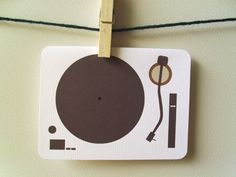 Turntable Greeting Card by 4four on Etsy, $4.00