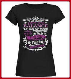 JE SUIS UNE FILLE NE EN BALANCE - Shirts für schwester (*Partner-Link)