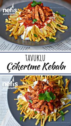 Tavuklu Çökertme Kebab (wie Lokum) – köstliche Rezepte – Vegan yemek tarifleri – Las recetas más prácticas y fáciles Pasta Recipes, Dinner Recipes, Cooking Recipes, Italian Chicken Dishes, Turkish Delight, Turkish Recipes, Food Design, Food Porn, Food And Drink