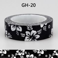 1X 15mm 10m Tape Black White Dot Flower Star Washi Tape Paper