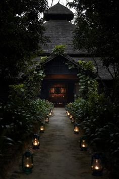 The entrance to the demon monks' place // A mountain lodge in Nepal.