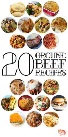 The ever dreaded question--What's for dinner? These 20 ground beef recipes are sure to  become family favorites. Click on over to learn more.