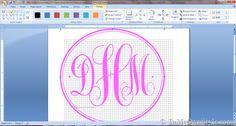 Monogram making tutorial - great for labelling everything up smartly! http://inmyownstyle.com/2013/03/how-to-create-a-monogram-using-microsoft-word.html