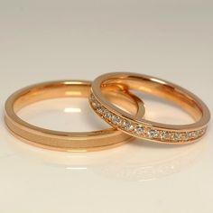 Verighete din aur, cu diamante II Cod produs: V853