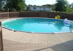 Above Ground Pools for Sale | Above Ground Pool and Maintenance Free Party deck for Sale in Blue Eye ...