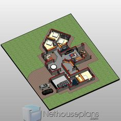 A 4 Bedrooms Tuscan styled house plans you can call home. This 4 Bedrooms Tuscan styled house design is perfect for your medium size family. House Layout Plans, Garage House Plans, Dream House Plans, House Layouts, 6 Bedroom House Plans, Master Bedroom Plans, Double Storey House Plans, Tuscan House Plans, Built In Braai