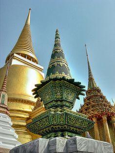 Wat Phra Kaeo Bangkok, Thailand by Chad Galloway Photo, via Flickr