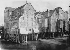 The mills of Meaux France built on stilts across the Marne. Lost during a storm in 1920. by adamnathanielfurman