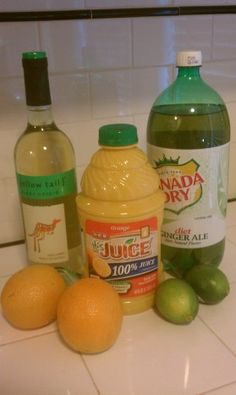 Easy White Sangria Ingredients