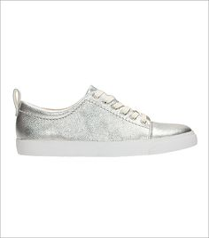 Clarks Glove Echo Silver Metallic Casual Sneakers