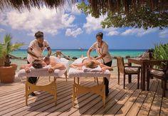 Spa Resort en Aruba: disfruta de una sesión de masajes junto al mar #spa #resort #Aruba