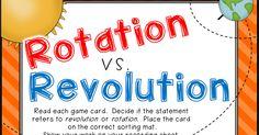 Classroom Freebies: Rotation vs. Revolution Science Game Freebie