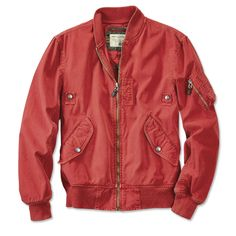 Launched by the US government in 1938, the Civilian Pilot Training Program (CPTP) aimed to prepare civilian fliers while increasing military readiness. This colorful version of the MA-1 flight jacket, issued to civilian pilots, is constructed from rugged 8-oz. double-washed canvas. Equipped with a cut brass zipper, snap-front pockets, and an upper-sleeve utility pocket with space for a navigation tool and writing utensils. Chest snaps were originally used to keep cockpit cords organized…