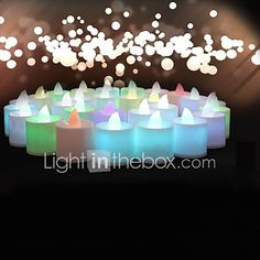 Wedding Décor 24pcs Color-changing Flameless LED Tealight Candles Light Battery for  Birthday Party Decoration 2017 - £19.31