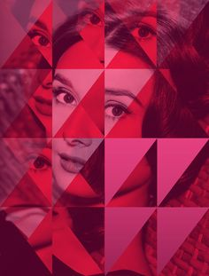 Audrey Hepburn, Classic Beauty Remixed by Ramiro Baldivieso, via Behance