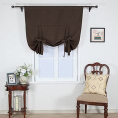 Nicetown Full Shading Panel- Room Darkening Solid Rod Pocket Adjustable Tie Up Shade Blackout Thermal Insulated Small Curtain for Bedroom Window (1 pc,W46 L63,Toffee Brown) Nicetown http://www.amazon.com/dp/B016VS2DXG/ref=cm_sw_r_pi_dp_Q-h5wb1MBVNYY