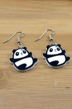 Happy Panda Earrings $10