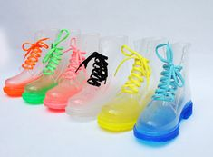 Transparent Inner Heel Marten Rubber Boots, these look so cool, but I don't think I would wear them, but I do love them :)