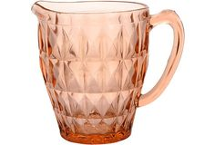 Pink Depression Glass Water Pitcher