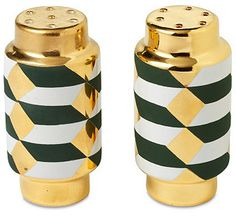 Salt & Pepper Shakers, Geometric
