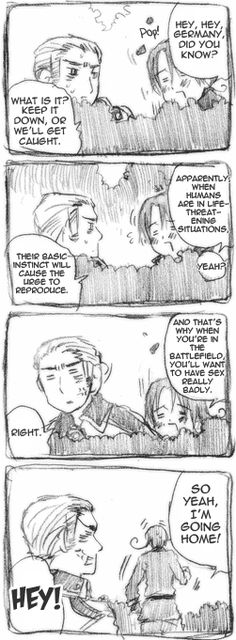 """[Germany, Italy - """"The Mechanisms of You and Me""""] Another insane Hetalia moment. I cant stop giggling.. make it stop.. xD"""