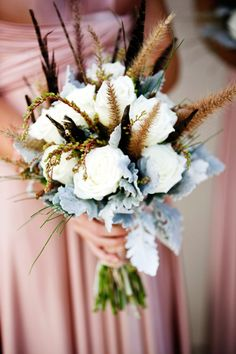 I love the colors in this bridesmaid bouquet- with white and rustic grasses from Natalie and Ryan's wedding in Mount Mee, Queensland. Bouquet by A Sculptured Leaf. Wedding Store, Wedding Music, Dream Wedding, Floral Wedding, Wedding Bouquets, Bridesmaid Bouquets, Gold Wedding, Wedding Dresses, Wedding Themes