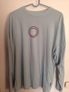 Life Is Good Light Blue Long Sleeve T-Shirt Sz XL 100% Cotton Lightweight Soft ! #LifeIsGood #GraphicTee