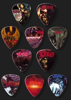Dio Guitar Picks - I have these too, awesome.