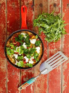 Mmmmm made it this morning - very yummy, omitted goat cheese.  Roasted chilli frittata | Jamie Oliver | Food | Jamie Oliver (UK)