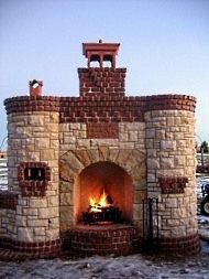 Castle fire place