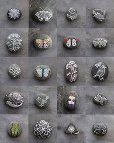 I love Geninne Zlatkis' painted rocks...wow!
