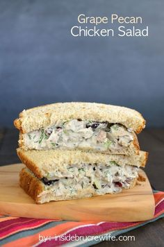 Grape Pecan Chicken Salad - dill and grapes add a fun and delicious flavor to chicken salad