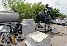 P.G.T. Beauregard statue in plain view after removal   NOLA.com  Insult added to injury!