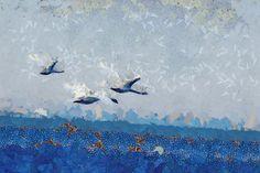 Sea Painting Landscape Art PRINT Seagulls by AnnasDigitalArtDeco Landscape Art, Landscape Paintings, Large Wall Art, Bird Art, Printable Art, Ocean, Art Prints, Birds, Etsy