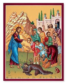 Icon of Christ Healing