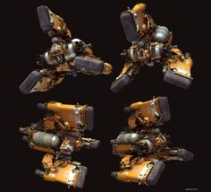 concept ships: Heavy Space Tug by Paul Pepera