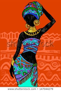 Find Hand Drawn Illustration Beautiful Black Womanafrican stock images in HD and millions of other royalty-free stock photos, illustrations and vectors in the Shutterstock collection. Thousands of new, high-quality pictures added every day. African Drawings, African Art Paintings, Arte Tribal, Tribal Art, African American Art, African Women, African Beauty, Afrika Tattoos, Afrique Art