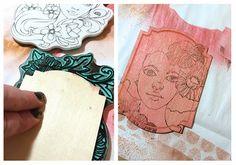 Tutorial-Bloom Girl stamps by Jamie Dougherty for Prima #colorbloom #bloomgirls #jaylynscraps #prima