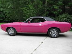 One for the ladies!! 1970 Plymouth Baracuda in Panther Pink!...