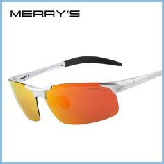 152a65625f Merry's hombres gafas de sol polarizadas de aluminio de la aviación de  magnesio gafas de sol de conducción pesca rectángulo sin montura shades