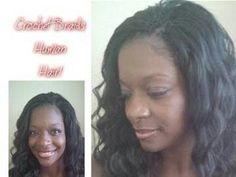 Human hair crotchet braids